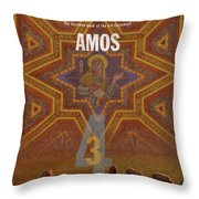 Amos Books Of The Bible Series Old Testament Minimal Poster Art Number 30 Throw Pillow