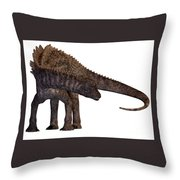 Ampelosaurus Armored Dinosaur Throw Pillow