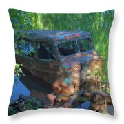 Amphibious Vehicle Throw Pillow