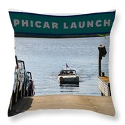 Amphicar Launch Throw Pillow