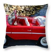 Amphicar Red  Throw Pillow
