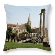 Amphitheater Ruins - Arles - France Throw Pillow
