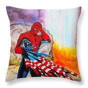 Ams 9/11 Tribute Illustration Edition Throw Pillow