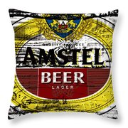 Amstel Beer Sign  Throw Pillow