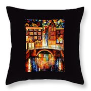 Amsterdam - Little Bridge Throw Pillow