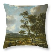 Amsterdam A Landscape With Cattle  Throw Pillow