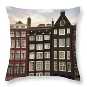 Amsterdam Architectre At Twilight Throw Pillow