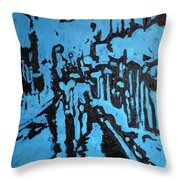 Amsterdam At Night Throw Pillow