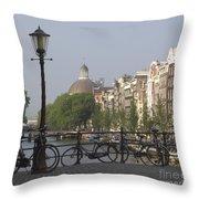 Amsterdam Bridge Throw Pillow