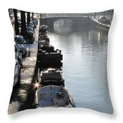 Amsterdam Canal In Winter Throw Pillow