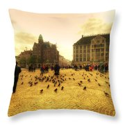 Amsterdam City Throw Pillow