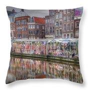 Amsterdam Flower Market Throw Pillow