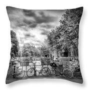 Amsterdam In Monochrome  Throw Pillow
