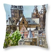 Amsterdam Holland Throw Pillow