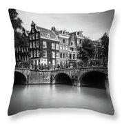 Amsterdam, Leliegracht Throw Pillow