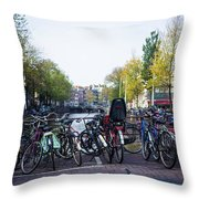 Amsterdam Parking Lot Throw Pillow