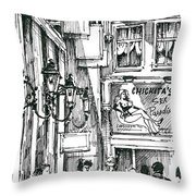 Amsterdam Red District  Throw Pillow