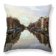 Amsterdam Reflected Throw Pillow