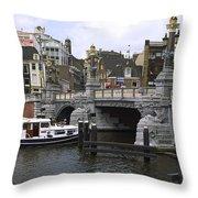 Amsterdam Scene Throw Pillow