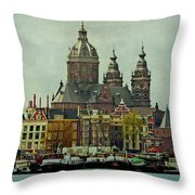 Amsterdam Skyline Throw Pillow