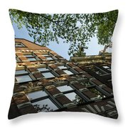 Amsterdam Spring - Fancy Brickwork Glow - Left Horizontal Throw Pillow