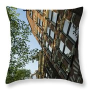 Amsterdam Spring - Fancy Brickwork Glow - Left Vertical Throw Pillow