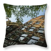 Amsterdam Spring - Fancy Brickwork Glow - Right Horizontal Throw Pillow