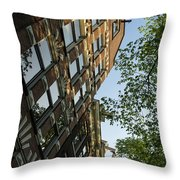 Amsterdam Spring - Fancy Brickwork Glow - Right Vertical Throw Pillow