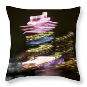 Amsterdam The Netherlands A'dam Tower Abstract At Night. Throw Pillow