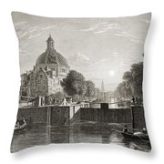 Amsterdam, View On The Singel. From The Throw Pillow