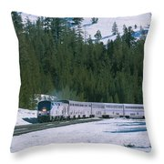 Amtrak 112 1 Throw Pillow by Jim Thompson