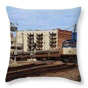 Amtrak 90413 Throw Pillow