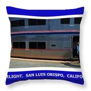 Amtrak San Luis Obispo Throw Pillow