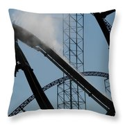 Amusement Park Abstract Throw Pillow