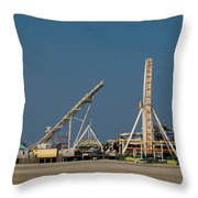 Amusement Pier And Waterpark Throw Pillow