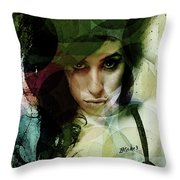 Amy Whirls  Throw Pillow
