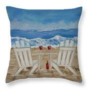 Amy's Beach Throw Pillow