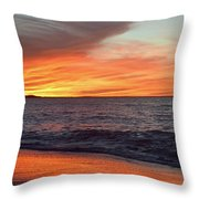 An Absolute Fire In The Sky Throw Pillow