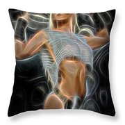 An Abstract Heorine Throw Pillow by Jon Volden