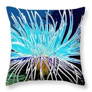 An Abstract Scene Of Sea Anemone 1 Throw Pillow
