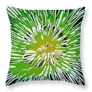 An Abstract Scene Of Sea Anemone 2 Throw Pillow