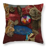 An Abstracted Life Once Lived Throw Pillow
