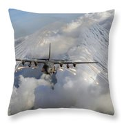 An Ac-130u Gunship Jettisons Flares Throw Pillow