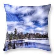 An Adirondack Winter Throw Pillow