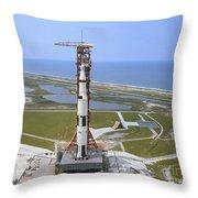 An Aerial View Of The Apollo 15 Throw Pillow