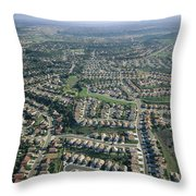 An Aerial View Of Urban Sprawl Throw Pillow