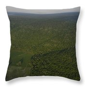 An Aerial View Shows The Cumberland Throw Pillow