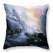 An Alaskan Night Throw Pillow