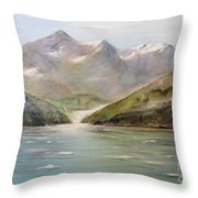 An Alaskan View Throw Pillow