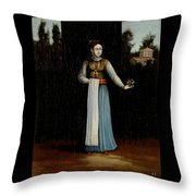 An Albanian Woman Throw Pillow
